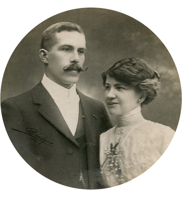 Voici la photo de mariage de mes grands-parents